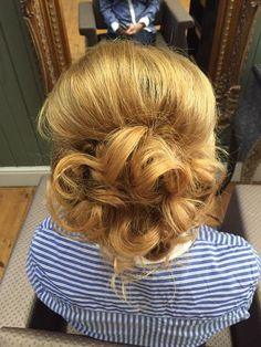 A lovely updo by Bethany! #hair #updo