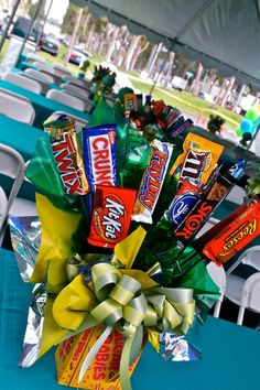 Candy Centerpiece - great for a afternoon break table.