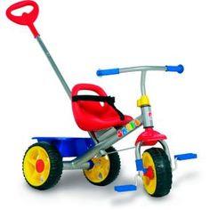 Triciclo Bandeirante Smart, sofisticação, segurança e conforto, nas horas de lazer de seu filho.    Um triciclo para transformar qualquer dia em dia de passeio!    Haste removível com controle de direção para o adulto empurrar o triciclo.