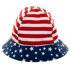 2f2545f8f03 Baby Boys  Sars and Stripes Bucket Hat Red White Blue 12-24M