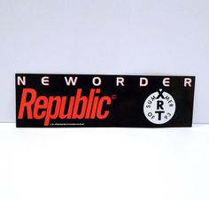 New Order Band Sticker Vintage 1993 Qwest Record by MohawkMusic