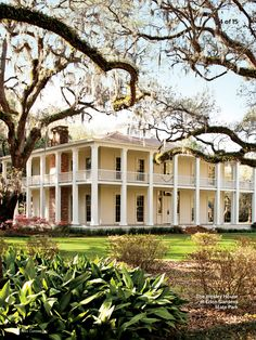 Southern Living June Love me some columns and wrap around porches. My dream!