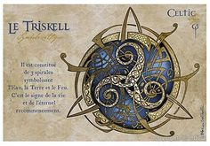 Le Triskel - Illustration de Sandrine Gestin Signe de la Vie et de l'Eternel Recommencement constitué de 3 Spirales symbolisant l'Eau, la Terre et le Feu.