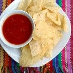 Copycat Chili's Salsa ~ Insanely EASY salsa recipe that tastes like Chili's salsa from Sumptuous Spoonfuls