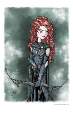 Merida, with Compound bow