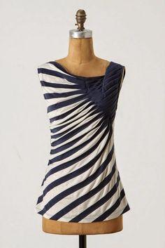 Rhonda's Creative Life   such a pretty way to manipulate stripes