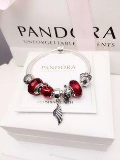 50% OFF!!! $199 Pandora Charm Bracelet Red. Hot Sale!!! SKU: CB02088 - PANDORA Bracelet Ideas