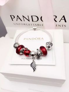 50% OFF!!! $199 Pandora Charm Bracelet Red. Hot Sale!!! SKU: CB02088 - PANDORA Bracelet Ideas