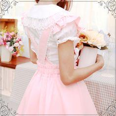 Sweet lolita dresses japanese lace bow shirt suit