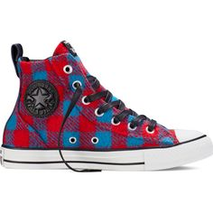 Converse Chuck Taylor All Star Chelsee Boot Woolrich – casino Sneakers ($85) ❤ liked on Polyvore featuring shoes, sneakers, casino, pattern leather shoes, star shoes, converse trainers, genuine leather shoes and vintage footwear