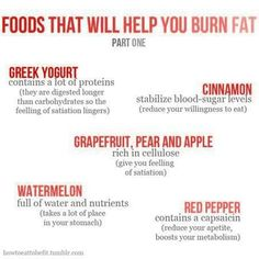 burn fat with these foods