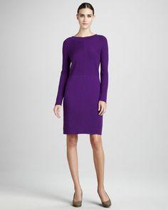 Wool Dress, Women\'s by Adrienne Vittadini at Neiman Marcus. Wool Dress, Dress P, Knit Dress, Neiman Marcus Dresses, Short Dresses, Dresses For Work, Latest Fashion Dresses, Adrienne Vittadini, Autumn Winter Fashion