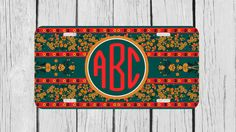 Personalized Monogrammed Hohloma Floral Emerald by TopCraftCase