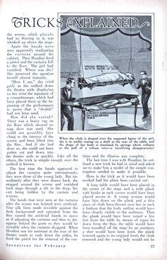 Houdini's Master MAGIC TRICKS EXPLAINED | Modern Mechanix