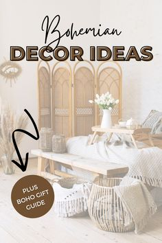 Do you know someone who loves all things boho? Today on the blog we have the best Bohemian decor gift ideas that won't break the bank. Budget-friendly and stylish Bohemian decor gift ideas for the living room, bedroom, and the rest of the house. Boho Style Decor, Bohemian Decor, Bohemian Style, Hippy Room, Hippie Room Decor, Gift Guide, Rest, Budget, Gift Ideas