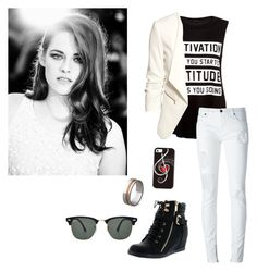 """""""Kristen - Tori"""" by naiaraformigoni ❤ liked on Polyvore featuring Top Moda, County Of Milan, H&M, Ray-Ban and Bodas"""