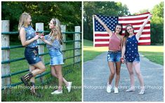 Your senior portraits don't have to be boring.themed photo shoots are so much fun! Here you'll find my Class of 2019 Senior Model patriotic photo shoot! Indiana, 4th Of July Pics, Photoshoot Themes, Class Of 2019, Family Memories, Senior Girls, High School Seniors, Senior Portraits, Gambrel