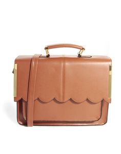Scallop satchel bag with gold bar detail. I need this. I just really neeeed this.  From asos!