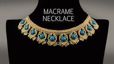 Beaded Macrame Necklace TUTORIAL in Boho Style #DIY #Necklace #Macrame #FreeTutorial #Boho #Vintage #Jewelry #Making