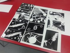 My students photogram experiments Nat.Dip Group 2012-2013