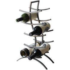 Dot & Bo Curved Wine Rack in Iron ($49) ❤ liked on Polyvore featuring home, kitchen & dining, bar tools, red wine rack, iron wine rack, white wine rack, wine bottle rack and wine rack