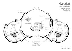 Monolithic dome home 1,966 sq ft