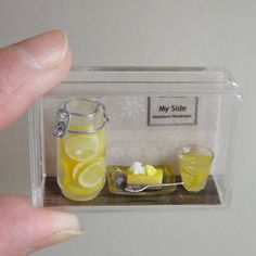 ♡ ♡ By Side Mini miniature lemonade #miniaturefood #miniaturedrink