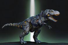 Robo T-REX by Frederic Maisonneuve on ArtStation. Grimlock Transformers, Transformers Cybertron, Robot Concept Art, Armor Concept, Entei Pokemon, Arte Robot, Robot Art, Robot Dinosaur, Power Rangers Megazord