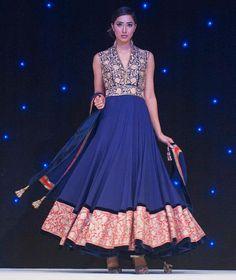 Manish Malhotra blue anarkali indian wedding