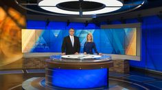 Explore photos of KETV-TV's TV set design in this interactive gallery of the studio. Tv Set Design, Tv Sets, Tv Decor, Living Room Tv, New Set, Tvs, Home And Garden, Studio Design, Gallery