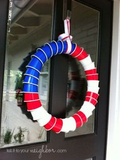 Red, white and blue wreath #BabyCenterBlog
