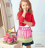 Ms Crafty Floral Apron  The apron is adorable for any little girl in your life. Personalize it with her name!