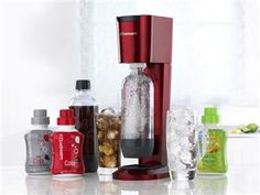 Never buy sparkling water again. The cartridges are returnable. No more bottles to recycle.. We have this and love it!