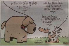 Le chien pédagogue. Comics, Guard Dog, Comic, Comic Books, Comic Strips