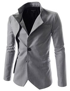 (NJK) TheLees Mens unbalance 2 button china collar jacket Gray Chest 44(Tag size 2XL) TheLees http://www.amazon.com/dp/B00BV2T27I/ref=cm_sw_r_pi_dp_lNdEwb1S4BFAE