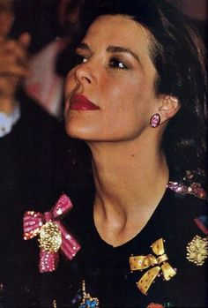 Princess Caroline of Monaco no matter what she wears too many bows and still sensational