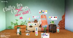 CLUTTER FOR CHRISTMAS BY STEFIZZI Hiiiii!! I stayed up nights to finish this set, but I really wanted to share something before the new year (since for christmas I couldn't). So, nothing really useful, just some objects to clutterize even more your...