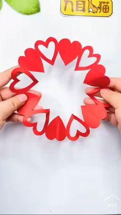 Cool Paper Crafts, Paper Flowers Craft, Paper Crafts Origami, Hand Crafts For Kids, Diy Crafts For Gifts, Diy Arts And Crafts, Diy Crafts Butterfly, Flower Crafts, Valentine Crafts