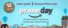 ¡Queda 1 día para el Prime Day! Muchas ofertas diarias para Clientes Premium.