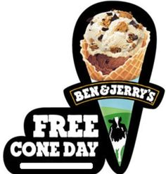 FREE Ice Cream Cone at Ben & Jerry's (4/14 Only)