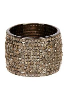 Diamond Cigar Band Ring - 3.50 ctw