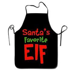 Elf Christmas Santa Cool Apron Chef Aprons #Christmas #Santa #Cool #Apron #Chef #Aprons