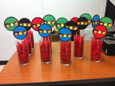 Lego ninjago party table decorations! So easy to make!