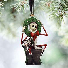 Jack Skellington and Vampire Teddy Sketchbook Ornament