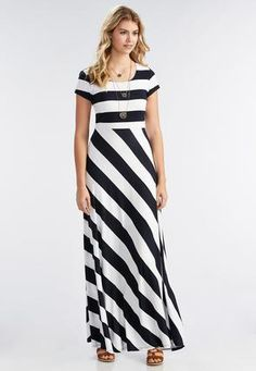 4d09ed23dfb2 Cato Fashions Striped Maxi Dress #CatoFashions Striped Maxi Dresses, Cute  Dresses, Classy Closets