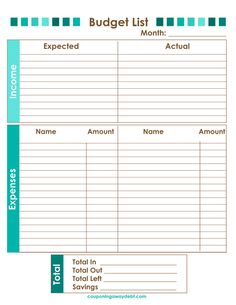 Creating a #budget will #SAVEMONEY! I have a #free budget #printable to get you started.