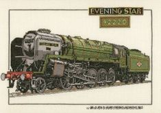 Evening Star - Classic Train Cross Stitch Kit from Heritage Crafts
