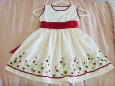 ribbon embroidery   Ribbon embroidery dress