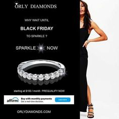 BUY NOW Pay Later....diamond band as low as $150/month at Orly Diamonds
