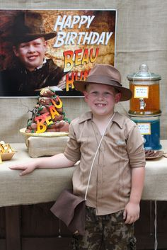 my daughters Indiana Jones birthday party